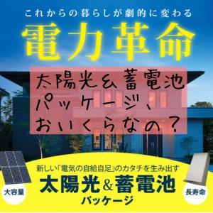 一条工務店の電力革命*太陽光パネル&蓄電池パッケージ、おいくらなの?