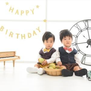 1歳の誕生日にフォトスタジオで記念撮影