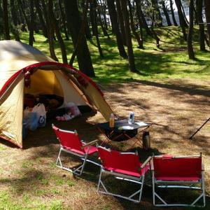 キャンプ回顧録 初めてのキャンプ@西浜キャンプ場 2014/04/12~13