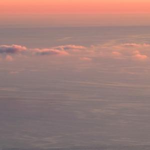 淡き夕焼けの日本海 / Pale sunset glow on the Sea of Japan