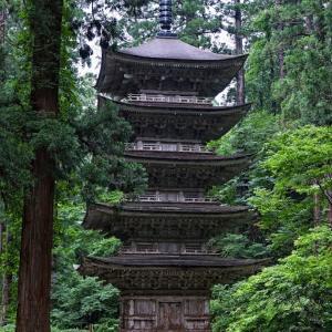 夏の緑に囲まれて / Five-storied pagoda in Summer