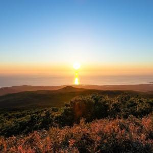 夕陽の光を受け止めて / Sunset on the Sea of Japan