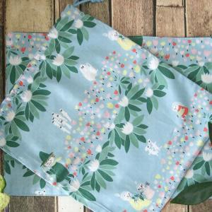 【たけくまの洋裁教室】定番の巾着の作り方~袋物の基本のキホン