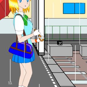 「北楢崎駅」の駅舎作り(3)。