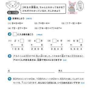 【無料の学習プリント】小学3年生の算数ドリル_学力テスト3