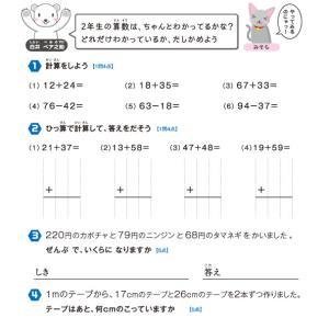 【無料の学習プリント】小学2年生の算数ドリル_学力テスト1