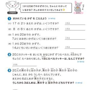 【無料の学習プリント】小学1年生の算数ドリル_テスト3