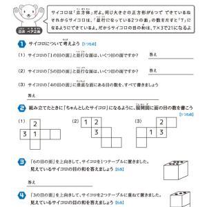 【無料の学習プリント】小学4年生の算数ドリル_立方体と直方体3
