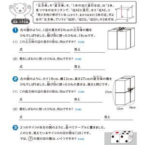 【無料の学習プリント】小学4年生の算数ドリル_立方体と直方体4