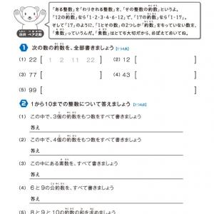【無料の学習プリント】小学5年生の算数ドリル_約数と公約数2