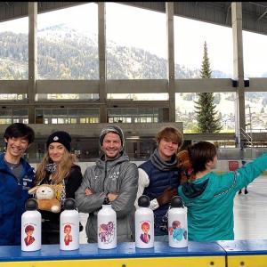 スイスからの便り/雪景色のアルプスとトロちゃんと/ステファンとパガニーニさんインスタより