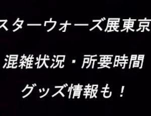 スターウォーズ展2019東京(寺田倉庫)混雑状況と所要時間!グッズ情報も!