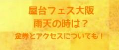 屋台フェス大阪2019で雨天なら?金券やアクセス方法についても!