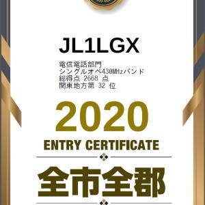 全市全郡コンテストと東京UHFコンテストの結果