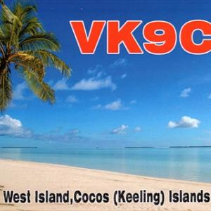 ココス島とチャタム島のQSLカード