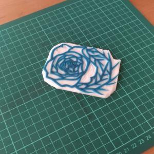 薔薇(彫り)