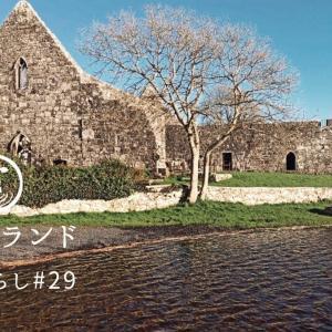 【アイルランド田舎暮らし】草原の湖に佇む古い修道院|白鳥たちの静かな時間