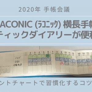 【手帳レビュー】LACONIC(ラコニック)横長スティックダイアリー<ガントチャートの使い方>