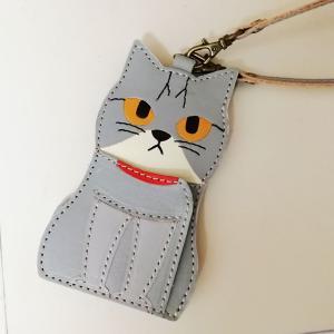 猫キーケース・小銭入れ付きパスケース【完成】