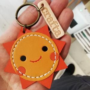 コインが入る太陽キーホルダー【完成】