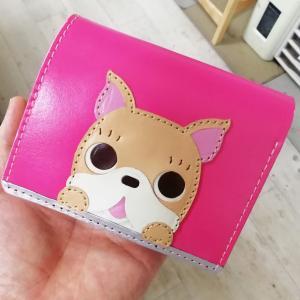 フレンチブル二つ折り財布【完成】