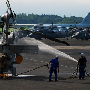 機体洗浄 SH-60K ~鹿屋航空基地~
