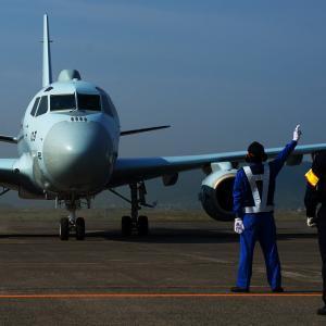 一夜明けて・・・  川崎 P-1哨戒機
