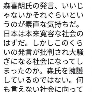 森喜朗元総理の問題発言について
