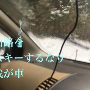 ノーマルタイヤです雪道走行