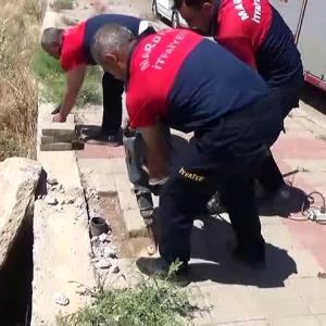 【犬猫動物動画まとめ】Boruya sıkışan kediyi itfaiye ekipleri kurtardı