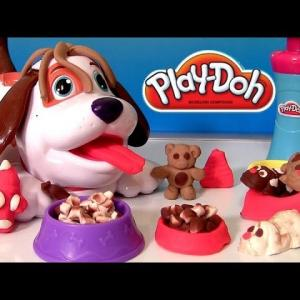 【犬猫動物動画まとめ】Play Doh Puppies Playset With Kibble Kranker - Play Dough Cute Puppy Bacon and Dog Food Funtoys