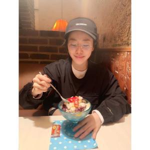 韓国女優『ハン・ジミン』Instagramの写真更新!<夏終わりかき氷🍧🍨>