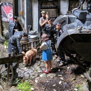 ジオラマ製作・ドイツの農村(完成)