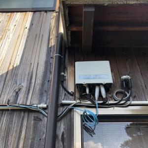 通信機器の電気工事について1実家と回線を共有する