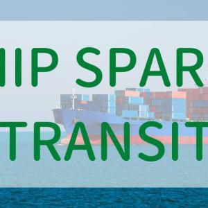 SHIP SPARES IN TRANSIT の意味と使い方とは?|船用品として輸送するケースと例外的な処理