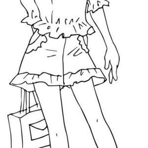 ショートパンツの少女 イラスト
