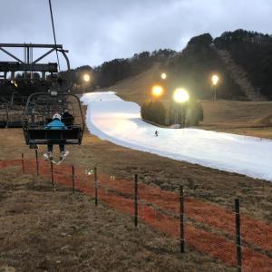 今日は1人でスキー