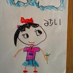 娘が要請に応じて絵を描いてくれた