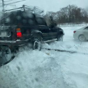 記録的大雪。