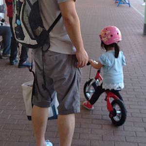 3歳娘、自転車に挑戦。キックサイクルのお話