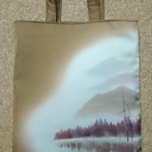山水画のバッグ