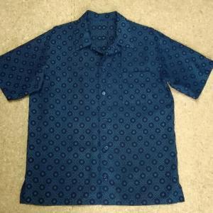 【着物リメイク】アロハで(((゚〰゚)))ブルー