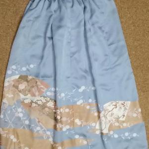 【着物リメイク】ギャザースカート