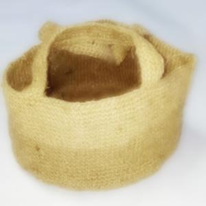 100均 麻ひもでダッチオーブンバッグを編んで焼いてみた