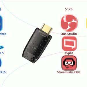 【ShadowCast】SwitchとPS5の映像をPCに映せる超小型の便利アイテム!【配信にも】