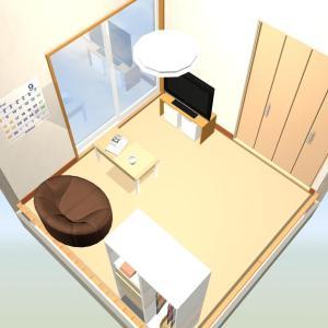 お布団敷いたシンプル庶民的?な4.5帖のお部屋作ってみた。