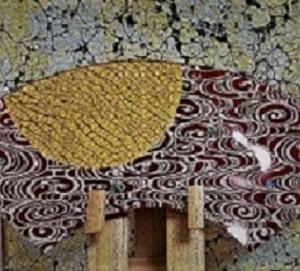 ❣❣金彩硝子皿【月に流水・螺鈿】❣❣ちょっと、制作❣❣