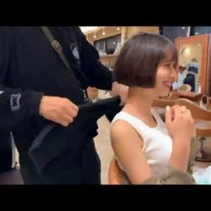 【動画】ハーフ顔の美人が髪きって大変身、出るとこ出ていて最高だわ!【変身】