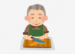 母が認知症なので、父が朝昼夜の3食を作って家事のほとんどを一人でしている事への父の愚痴。