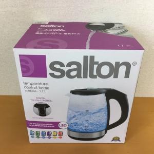 コストコ Salton サルトン電気ケトル1.7L温度コントロール機能付(GK1967)